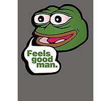 Feels good man - frog meme Photographic Print