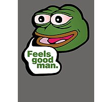 Feels good man - frog meme Photographic Print
