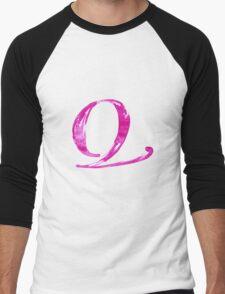 Alphabet Q Men's Baseball ¾ T-Shirt