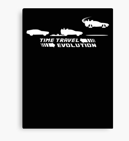 Time Travel Evolution Canvas Print