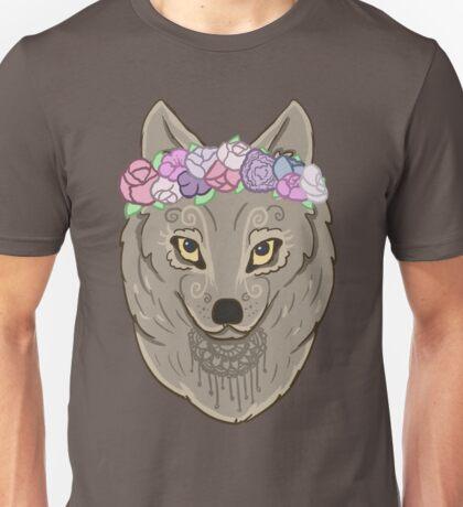 Floral Wolf Unisex T-Shirt
