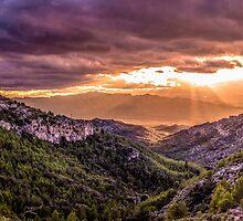 Sunset over Catalonia by Robbie Labanowski