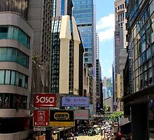 Central Streets III - Hong Kong. by Tiffany Lenoir