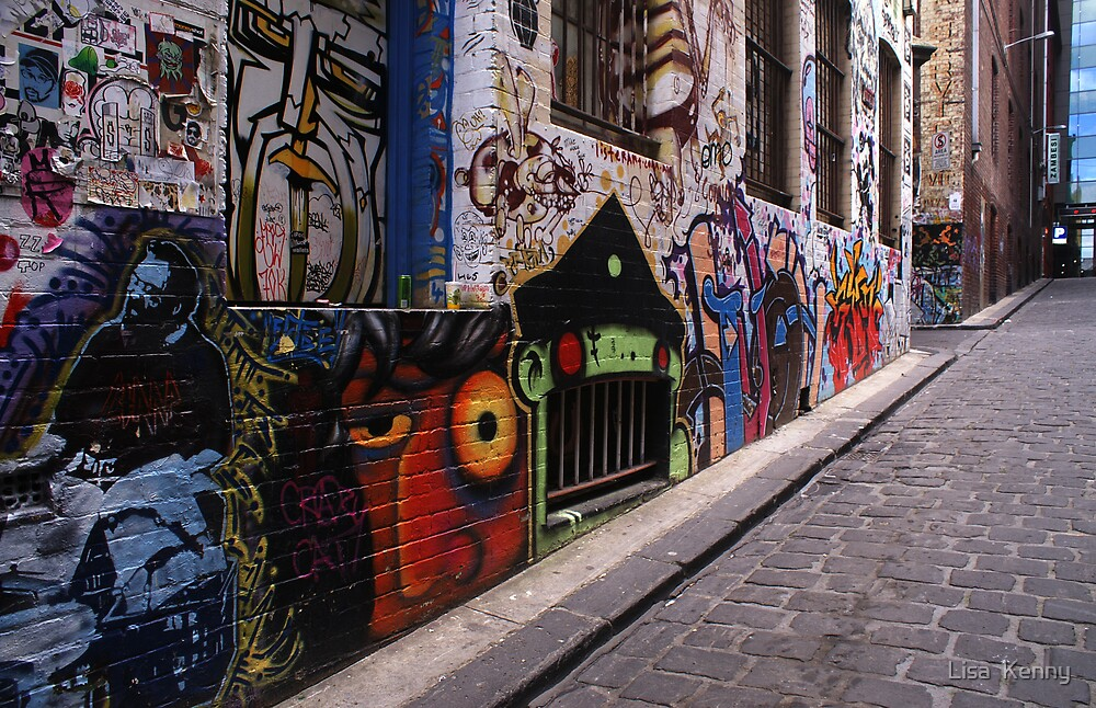 Graffiti Lane by Lisa  Kenny