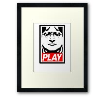 Lord Gaben Play - PC gaming master race, Gabe Newell Framed Print