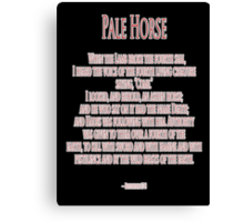 Pale Horse, When the Lamb broke the Fourth Seal, Four Horsemen of the Apocalypse Canvas Print