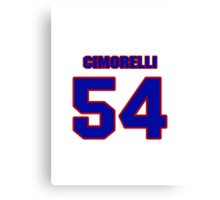 National baseball player Frank Cimorelli jersey 54 Canvas Print