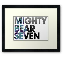 Mighty Bear Seven Framed Print