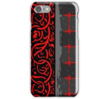 Vintage Dark Menu with Red Roses iPhone Case/Skin