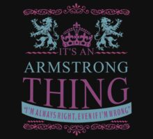 It's an ARMSTRONG Thing by RooDesign