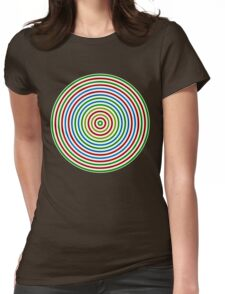 Vibrating Concentric Color Circles Womens Fitted T-Shirt