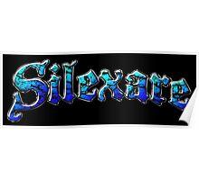 Silexare Text on Black Poster