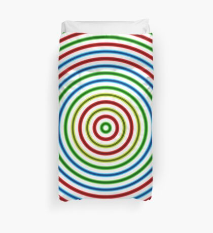 Vibrating Concentric Color Circles Duvet Cover