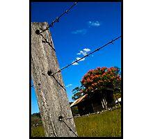 Farm Fence Photographic Print