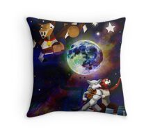 Blue Moon Contest Throw Pillow