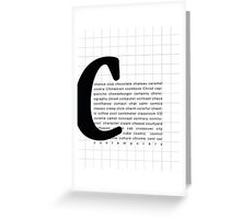 Art Print - Words with Letter C - Words and Letters Typography Greeting Card