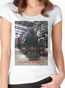 I Love Trains Women's Fitted Scoop T-Shirt
