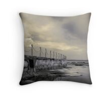 """Posts & Chains"" Collaboration with Mel Brackstone Throw Pillow"
