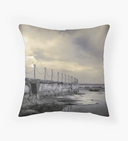 """""""Posts & Chains"""" Collaboration with Mel Brackstone Throw Pillow"""