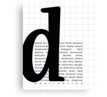 Art Print - Words with Letter D - Words and Letters - Typography Canvas Print