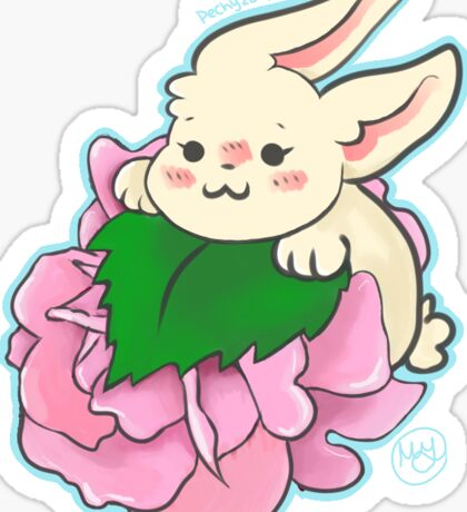 Smol Flower Bunny Sticker