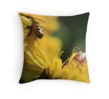 Bee Neighbourly Throw Pillow