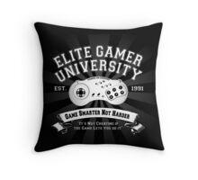 Elite Gamer University Throw Pillow