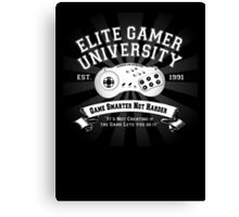 Elite Gamer University Canvas Print