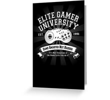 Elite Gamer University Greeting Card