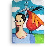 The Hairdresser Bird Canvas Print