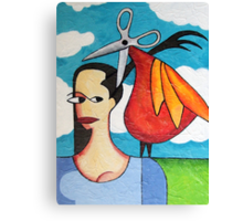 The Hairdresser Bird Canvas Print
