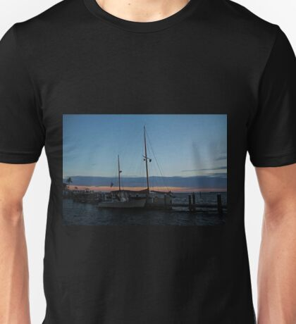Sitting with the Setting Sun Unisex T-Shirt