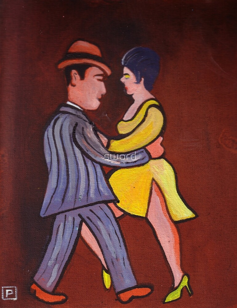 The tango (from my original acrylic painting) by sword