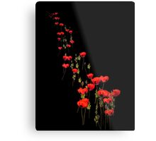 The March of the Poppies Metal Print