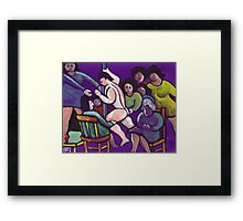 Ladies night (from my original acrylic painting) Framed Print