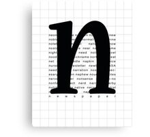Art Print - Words with Letter N - Words and Letters - Typography Canvas Print