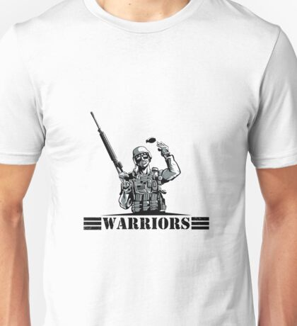 Soldier with rifle and grenade Unisex T-Shirt