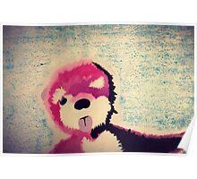 ABQ Pink Bear Poster