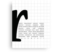 Art Print - Words with Letter R - Words and Letters - Typography Canvas Print