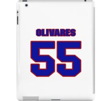 National baseball player Omar Olivares jersey 55 iPad Case/Skin