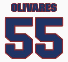 National baseball player Omar Olivares jersey 55 by imsport