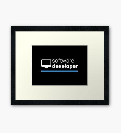 Software Developer Framed Print