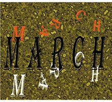 Birth Month - March Special Effects Photographic Print