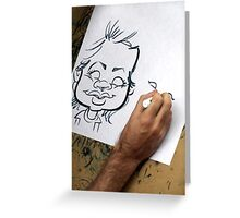 Caricature Artist Greeting Card