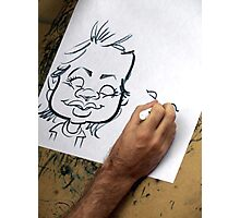 Caricature Artist Photographic Print