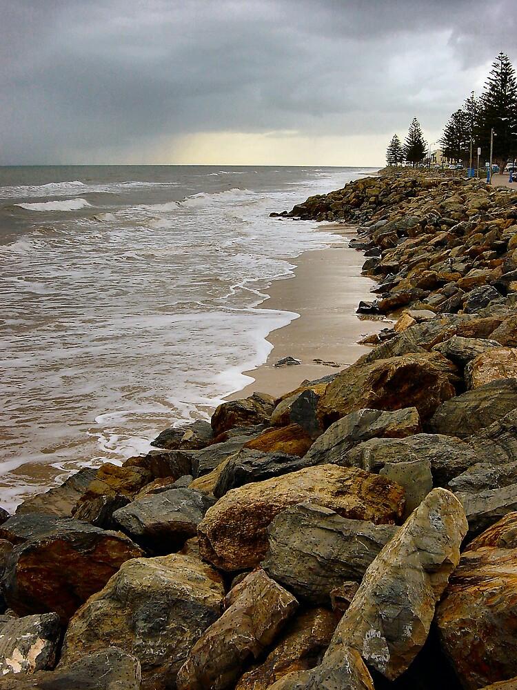 Winter beach by Kablwerk