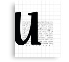 Art Print - Words with Letter U - Words and Letters - Typography Canvas Print