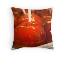 candied apples Throw Pillow