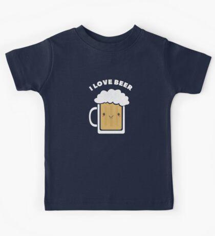 Cute I Love Beer  Kids Tee