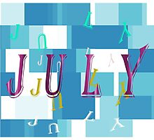 Birth Month - July Special Effects Photographic Print